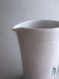 rim of salt white tall jug