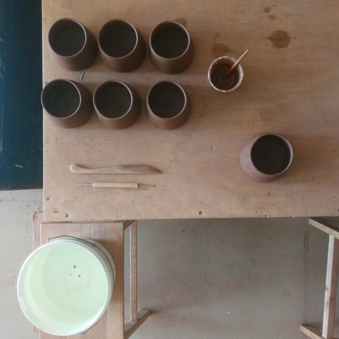mugs production from above